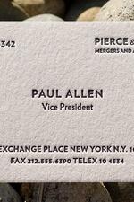 Paul Allen's Business Card by Bret Easton Ellis x American Psycho NFT